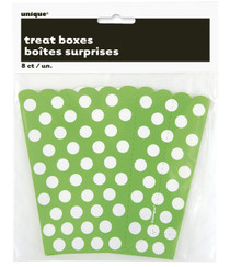 Green 8 ct Polka Dot Treat Boxes Party Favors