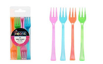 Party Dimensions Neons 24 Mini Forks Cocktails Party Appetizers Assorted Colors