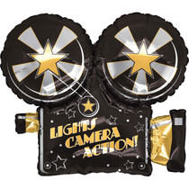Party Destination Lights, Camera, Action Foil Balloon XL 32""