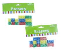 Lot of 24 Eraser Party Favors Color Building Blocks Erasers Toy School