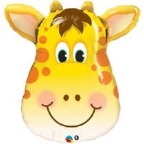 """Giraffe Mylar Foil Balloon Kids Party Decoration XL 32"""" Jolly Giraffe"""