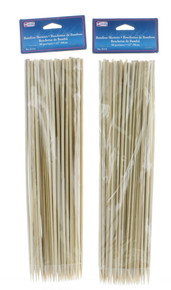 "100 Bamboo Skewers 12"" BBQ Wooden Sticks Barbecue Grill Shish Kabob Roasting"