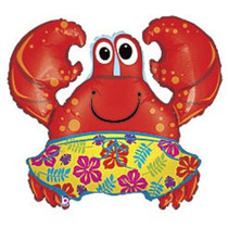 "XL 36"" Beach Crab Super Shape Mylar Foil Balloon Party Decoration"