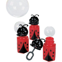 Little Ladybug Bubble Bottles - 12 Pack