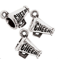 Lot of 12 Metal Fun Express Cheerleader Charms Party Favors