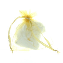 Gold Organza Gift Bags Pouches Party Favors Lot of 24