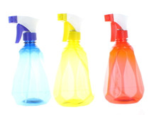 Lot of 3 Diamond Pattern Spray Bottles Home Plastic Misting Tool Assorted Colors