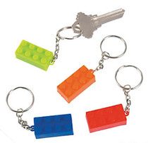 Plastic Brick Key Chains