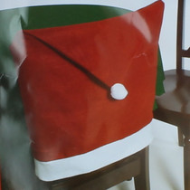 Lot of 4 Santa Hat Chair Covers Christmas Backing Dining Table X-Mas Decorations