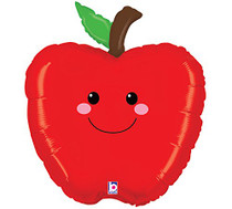 "XL 26"" Red Apple Produce Pal Balloon Super Shape Mylar Foil Party Decoration"