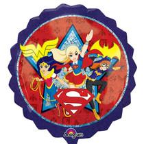 "XL 28""  DC Super Hero Girls Super Shape Mylar Foil Balloon Birthday Party"