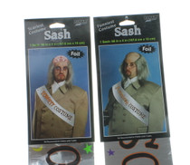 Lot of 2 Halloween Party Funniest and Scariest Costume Award Sashes Foil Prize