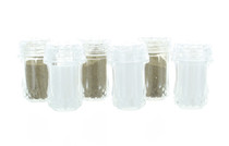 Clear Plastic Mini Salt and Pepper Shakers - 12 Pack