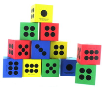 "48 Asst Color Jumbo Foam Playing Dice 2 1/2""  Favors"