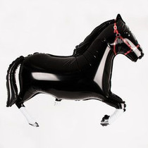 "XL 43"" Black Horse Super Shape Mylar Foil Balloon Party Decoration"