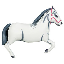 "XL 43"" White Horse Super Shape Mylar Foil Balloon Party Decoration"