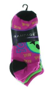 6  Ladies Rampage No Show Ankle Socks