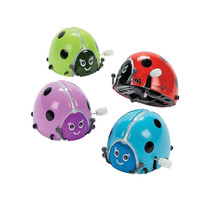 12 Flipping Wind-Up Lady Bugs Party Favors