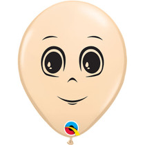 """Lot of 10 Masculine Face Latex Balloon 16"""" Qualatex Male Persona Man's Visage"""