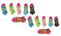 12 Pairs Ladies Emoji Print Low Cut Size 9-11 Womens No Show Smiley Face