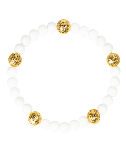 Riley Bracelet - White & Gold