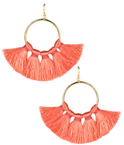 Izzy Gameday Earrings - Coral