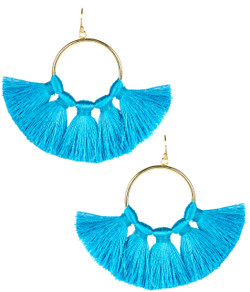 Izzy Gameday Earrings - Turquoise