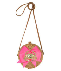Lucy Canteen Bag - Hot Pink Crab