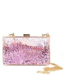 Sparkle Bag - Pink & Gold - Plain