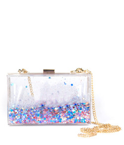 Sparkle Bag - Blue Confetti - Plain