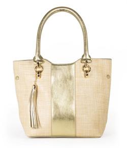 Petite Shopper - Gold & Straw