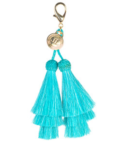 Horsehair Tassel - Double - Turquoise