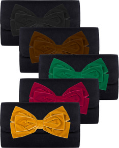 Avery Clutch - Velvet Bow