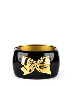 Large Cuff - Black - Bow