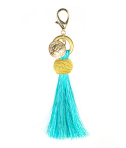 Horsehair Tassel - Gold Bauble - Turquoise
