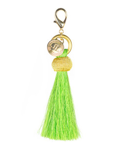 Horsehair Tassel - Gold Bauble - Green