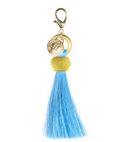 Horsehair Tassel - Gold Bauble - Light Blue