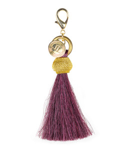 Horsehair Tassel - Gold Bauble - Burgundy