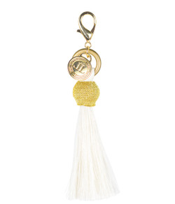 Horsehair Tassel - Gold Bauble - Cream