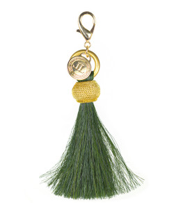 Horsehair Tassel - Gold Bauble - Olive
