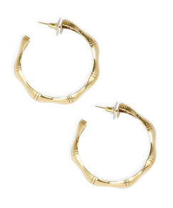 Bamboo Hoops - Gold