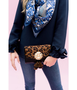 Leopard Cross Body Bag - Poppy and Tassel