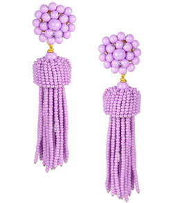 Tassel Earrings - Lavender