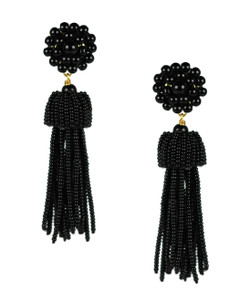 Tassel Earrings - Black
