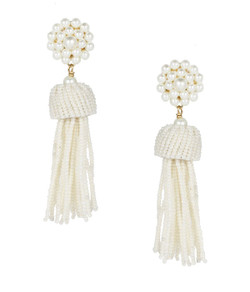 Tassel Earrings - Pearl