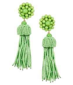Tassel Earrings - Lime