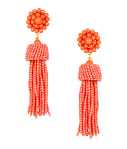 Tassel Earrings - Conch
