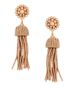 Tassel Earrings - Latte