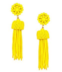 Tassel Earrings - Yellow