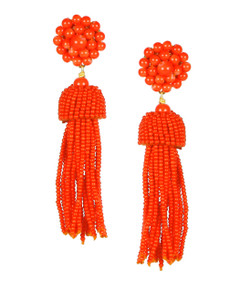 Tassel Earrings - Fireball